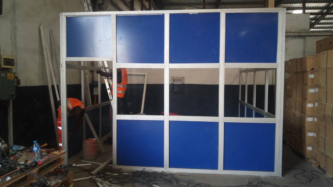 CONSTRUCTION OF CUBIC ALUMINUM OFFICE